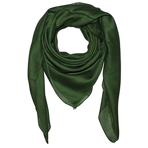 Superfreak Baumwolltuch - Tuch - Schal - 100x100 cm - 100% Baumwolle, Farbe grün