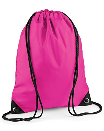 School Drawstring Book Bag Sport Gym Swim PE Dance Girls Boys Kids Backpack#Hot Pink