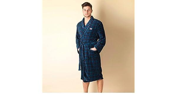 Ben Sherman Mens Mens Stan Check Robe Dressing Gown in Navy - L: Ben ...