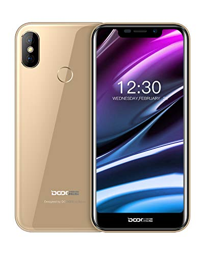 "Telefono Cellulare in Offerta, DOOGEE X70 Smartphone Android 8.1 5,5"" 19: 9 Notch Display, 4000mAh Telefoni Cellulari in Offerta Economici, Fotocamera 8MP+5MP 2GB+16GM Impronta Digitale Face ID, Oro"