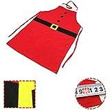 Navidad rojo Delantales,Moon mood® Decoración de Navidad - Delantal de la Navidad Temas de Navidad de Productos básicos de la Decoración Fina de Navidad de la Familia Partido de la Barra Celebración de la Boda del Partido