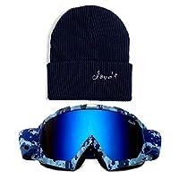 Cloud 9 Professional Snow Ski Goggles Adult Anti-Fog Dual Lens UV400 Protection blue