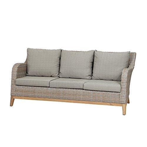 Siena Garden Lounge 3er Sofa Almada, 79x177x81cm, Gestell: Aluminium, Fläche: Gardino-Geflecht in...