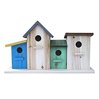 23 bees 4 hole bird house for outside/indoors/hanging | kits for children & adults | decorative birdhouse & home decoration | outdoors feeder for birds, bluebirds, wrens & chickadees 23 Bees 4 Hole Bird House for Outside/Indoors/Hanging | Kits for Children & Adults | Decorative Birdhouse & Home Decoration | Outdoors Feeder for Birds, Bluebirds, Wrens & Chickadees 41QbzryrKfL