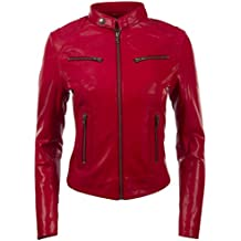 free shipping 78ac8 356d1 Amazon.it: giacca pelle donna - Rosso