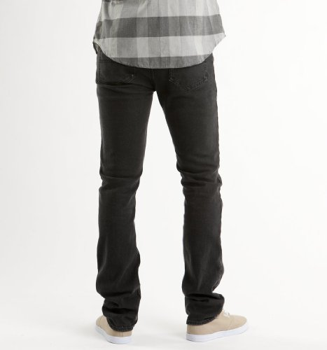 Emerica Hsu Saratoga–Jean de Skateboarding pour homme Noir (Black)