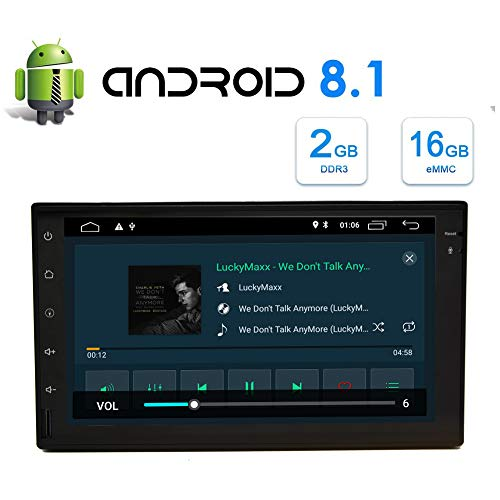 7 Zoll-Auto-Multimedia-Player von Android 8.1 Oreo OS mit Quad-Core-2G + 16G Unterst¨¹tzung WiFi 3G 4G Mirrorlink GPS OBD2 Bluetooth 4.0 1080P HD Video TF USB AM FM RDS mehrere Sprachen Schnelleinstel
