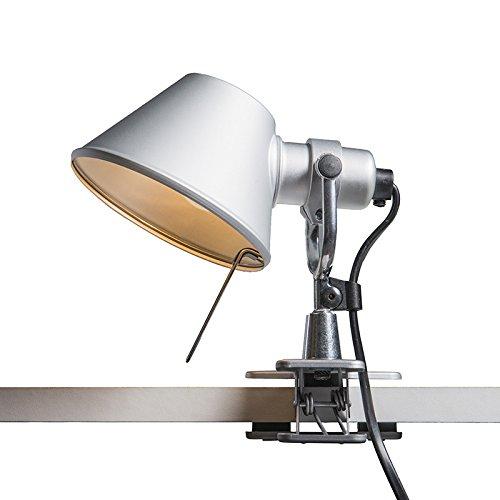 Artemide Design / Moderne / Artemide Tolomeo Micro Pinza aluminum Aluminium Rond Compatible pour LED E14 Max. 1 x 60 Watt / Lampe de lecture
