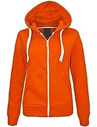 33f1dfb5152c janisramone Kids Girls   Boys Unisex New Plain Fleece Zip Up Hoodie Jacket  Long Sleeve Sweatshirt