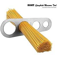 Medidor de espaguetis de 4 agujeros de acero inoxidable (Mide hasta cuatro porciones para adultos)