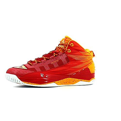 Peak scarpe da basket Dwight Howard DH1 Red/Orange Yellow (e62003 a), Rosso (Rosso), 43
