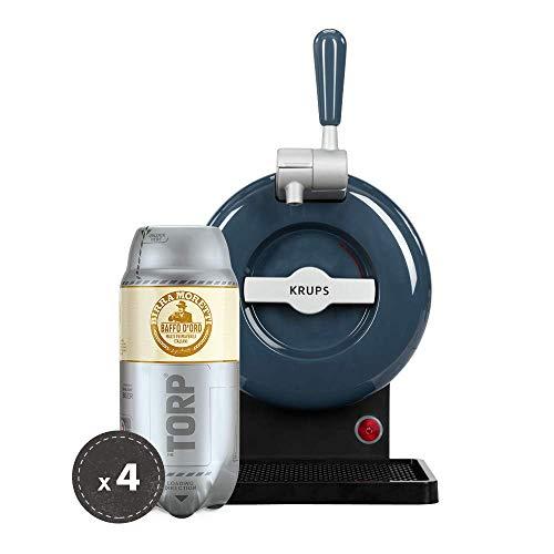 Birra Moretti THE SUB Set Spillatura Domestica   THE SUB Spillatore Birra da Casa, Edizione Grey   4 x TORP Birra Moretti Fustini di Birra da 2 Litri
