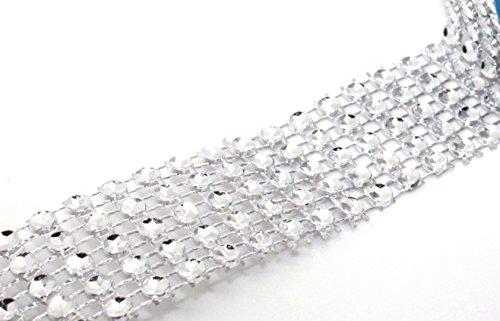 Diamante Effect Ribbon (5 rows) 2m x 25mm - Bridal Weddings Cake Occasions