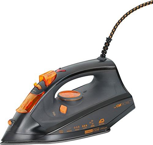 Clatronic DB 3512 - Plancha de vapor, 7 funciones, 2500 W, color negro y naranja