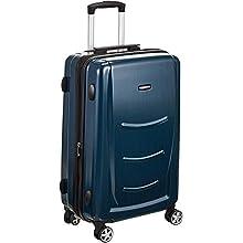 AmazonBasics Hardshell Luggage Spinner - 55cm Cabin Size, Navy Blue
