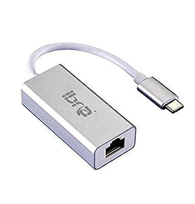 IBRA 0.15M - USB 3.1 Type C to RJ45 Gigabit Ethernet Adapter for Apple Macbook, Chromebook Pixel by IBRA