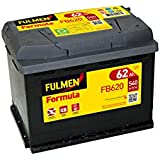 fulmen batterie voiture fb621 12v 62ah 540a high tech. Black Bedroom Furniture Sets. Home Design Ideas