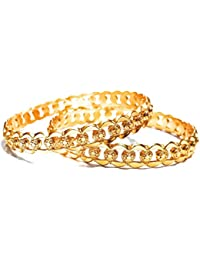 Traditional Gold Plated Bangle Set With Fancy Design For Your Little Girl Birthday/Party Wear. Bracelet Bangle...