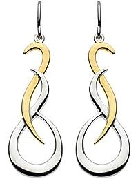 Dew Sterling Silver Claw Drop Earrings