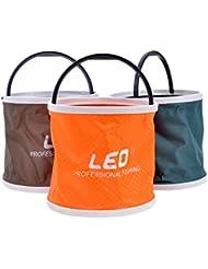 Forfar Seau pliant Poisson De plein air Pliant Toile Randonnée de camping Bucket Portable Matériel de pêche Outils COLLAPSIBLE Baril