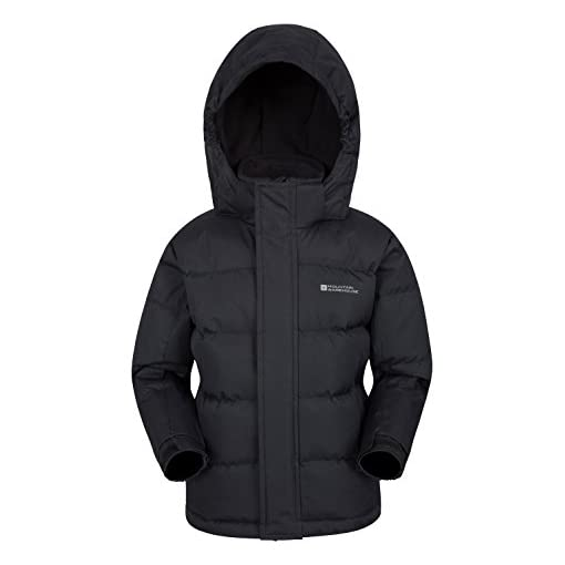 Mountain-Warehouse-Snow-Youth-Padded-Kids-Jacket-Water-Resistant-Ripstop-Fleece-Lined-Collar-Hood-Adjustable-Cuffs-Hood-Pockets-Ideal-Childrens-Winter-Coat