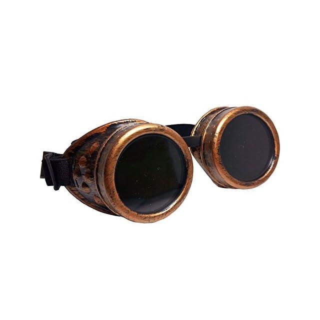 ... Style Antique Steampunk Gothique pour Cosplay Photos Deguisement ·  SODIAL(R) Steampunk Lunettes de securite Lunettes de protection coupe-vent  Vintage ... d89121915b48