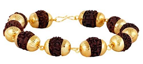 Die Jewelbox groß Rudraksh Beads 22K vergoldet Messing Armband für - Armbänder Nepal Gold