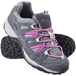 Mountain Warehouse Zapatillas Direction para mujer - Zapatillas impermeables, zapatillas cómodas para mujer, zapatillas acolchadas para cualquier temperada Gris oscuro 38