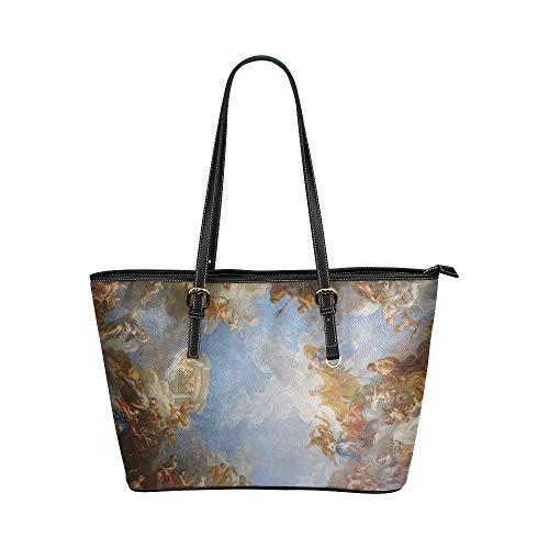 Xl Grocery Tote Bags Paris Frankreich Versailles Paris Frankreich Historische Lederhandtaschen Tasche Kausale Handtaschen Mit Reißverschluss Schulter Organizer Für Lady Girls Womens Womens Tote Bags -
