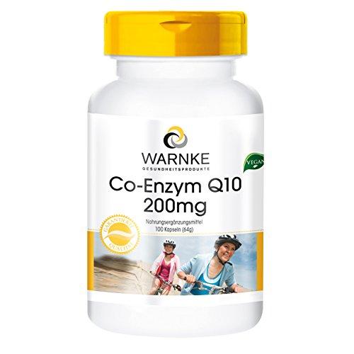 Co-enzima Q10 200mg - 100 comprimidos – artículo vegano