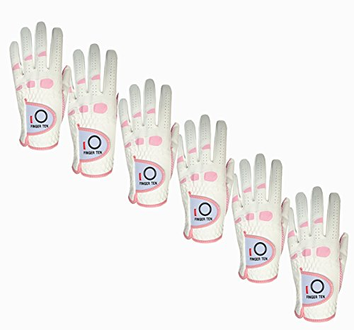 finger-ten-womens-lady-weathersof-pro-grip-left-and-right-hand-golf-glove-value-6-pack-pink-medium-w