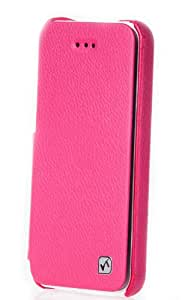Exklusive Tasche für Apple iPhone 5 und 5S / aufklappbar / ultraslim / Folder Case / Farbe: Pink / Rosa