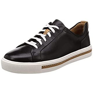 Clarks Damen Un Maui Lace Sneaker, Schwarz Black Leather, 37 EU