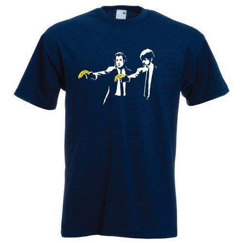 Banksy Pulp fiction XL navy blue standard fit T-shirt