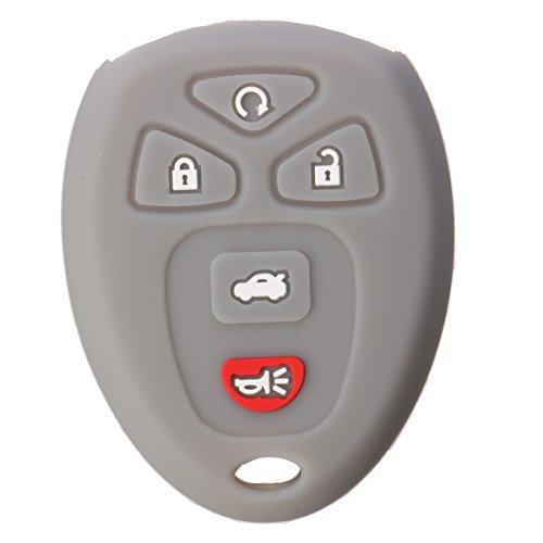 FeLiCia 5 Buttons Silicone Key Cover Case Shell Für Chevrolet - Grau