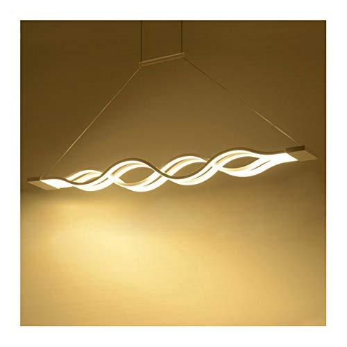 HU Lampadario a LED Wave Design for Cucina, Lampada a Sospensione a 4 Radici Art Twist, dimmerabile con Telecomando 39,4 x 4,7 Pollici