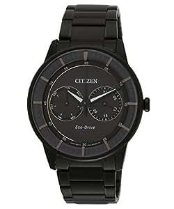 Citizen Herren-Armbanduhr XL Analog Quarz Edelstahl BU4005-56H