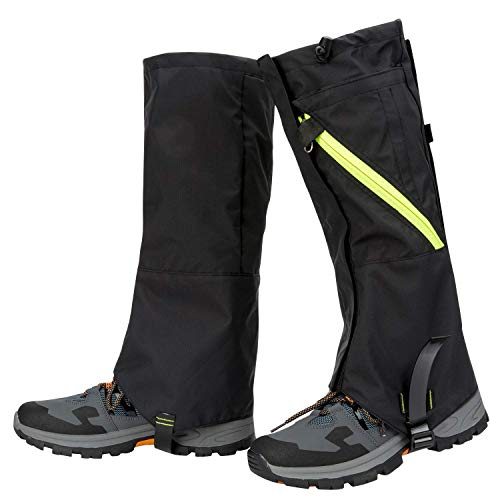 JTENG Gamaschen Wasserdichte Gamaschen Outdoor Gaiter für Outdoor-Hosen zum Wandern, Klettern und Schneewandern wandernde gehende kletternde Jagd-Schnee Legging Gamaschen 1 Paar