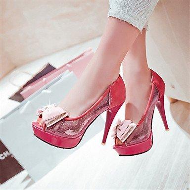 LvYuan Da donna-Sandali-Matrimonio Formale Serata e festa-Innovativo Club Shoes-A stiletto-Tulle Finta pelle-Nero Rosso Beige Red