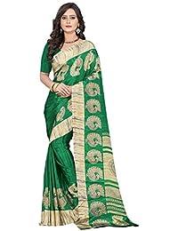 Jaanvi Fashion Women's Crepe Printed Saree