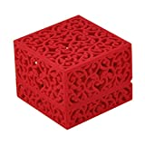 VORCOOL Ringbox Schmuckschatulle Samt höhle für Hochzeit Ring Valentinstag Geschenk Verlobung (Rot)