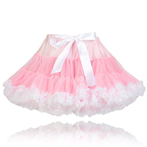 Die Fairy Princess Goldilocks Pink Bär Couture Mädchen Party Tutu, Pettiskirt, Pink und Weiß Tutu, Pettiskirt. Gr. XL (11 Jahre plus), rose