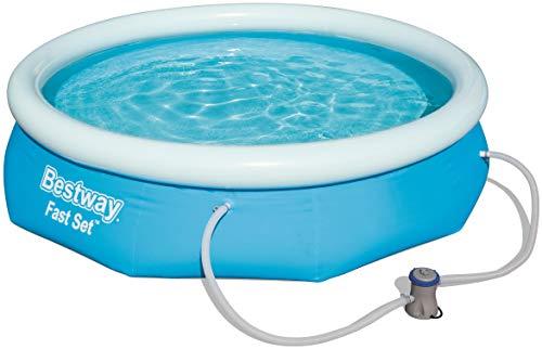 Bestway Fast Set Pool Set, mit Filterpumpe, blau, rund 274x76 cm