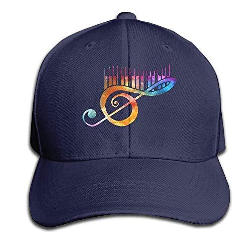 kslae 80er Jahre Piano Music Notenschlüssel Snapback Sandwich Cap Marine Baseball Cap Hüte Einstellbare Trucked Trucked Cap