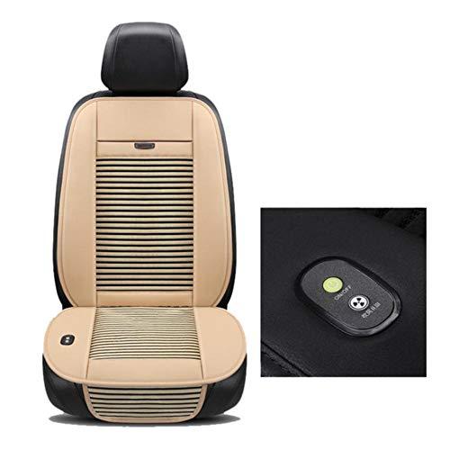 perfecthome Kühlendes Autositzkissen - 12V atmungsaktive Autositz-Kühlmatte Sommer-Autositzbezug mit Klimaanlage, 3 Kühlstufen Universal Fit für PKW und LKW