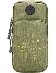 Sac de téléphone cellulaire créatif Sac pratique pratique pour le sport en plein air, vert