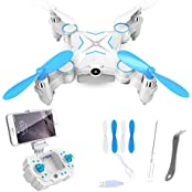 Ferngesteuerter Quadrocopter super mini Drohne 2.4GHz mit 1MP HD Kamera WiFi FPV Quadcopter Smart Phone/Fernbedienung gesteuert