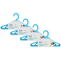 Baby Coat Hangers Small Clothes Hangers First Steps Pack of 36 Blue