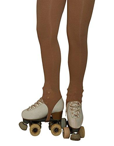 COLLANT SKATING STAFFA BAMBINA | CALZE CON GHETTA PATTINAGGIO | 70 DEN | NATURALE | (3 = 8 Anni)