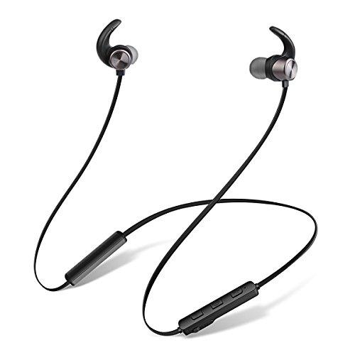Bluetooth Kopfhörer, JIAMA Bluetooth 4.1 in ear magnetische Headset mit Wasserschutzklasse IPX5 / 8-Stunden-Spielzeit / Mikrofon, federleicht für iPhone, iPad, Samsung, Nexus, HTC und mehr